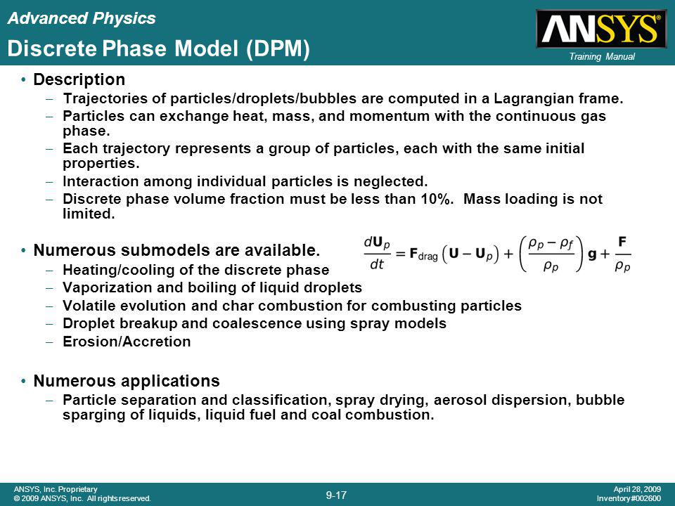 Discrete Phase Model (DPM)