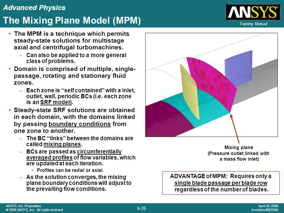 The Mixing Plane Model (MPM)