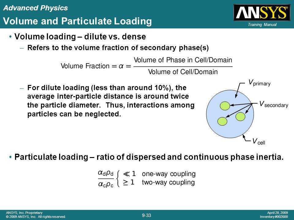 Volume and Particulate Loading