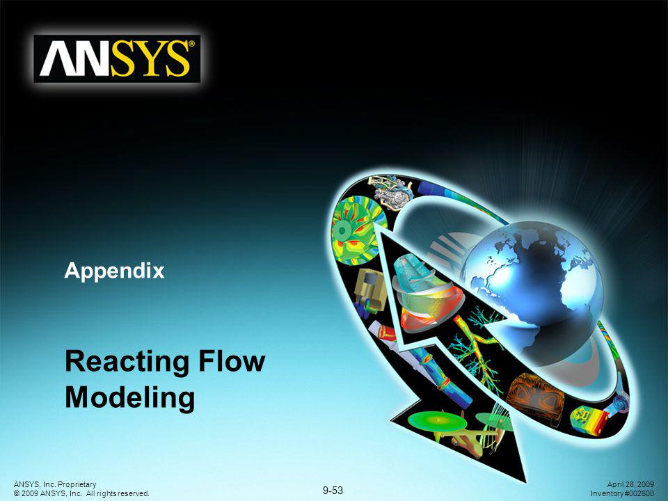 Reacting Flow Modeling