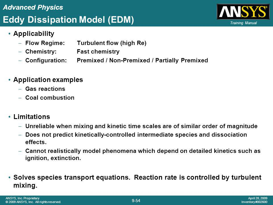 Eddy Dissipation Model (EDM)