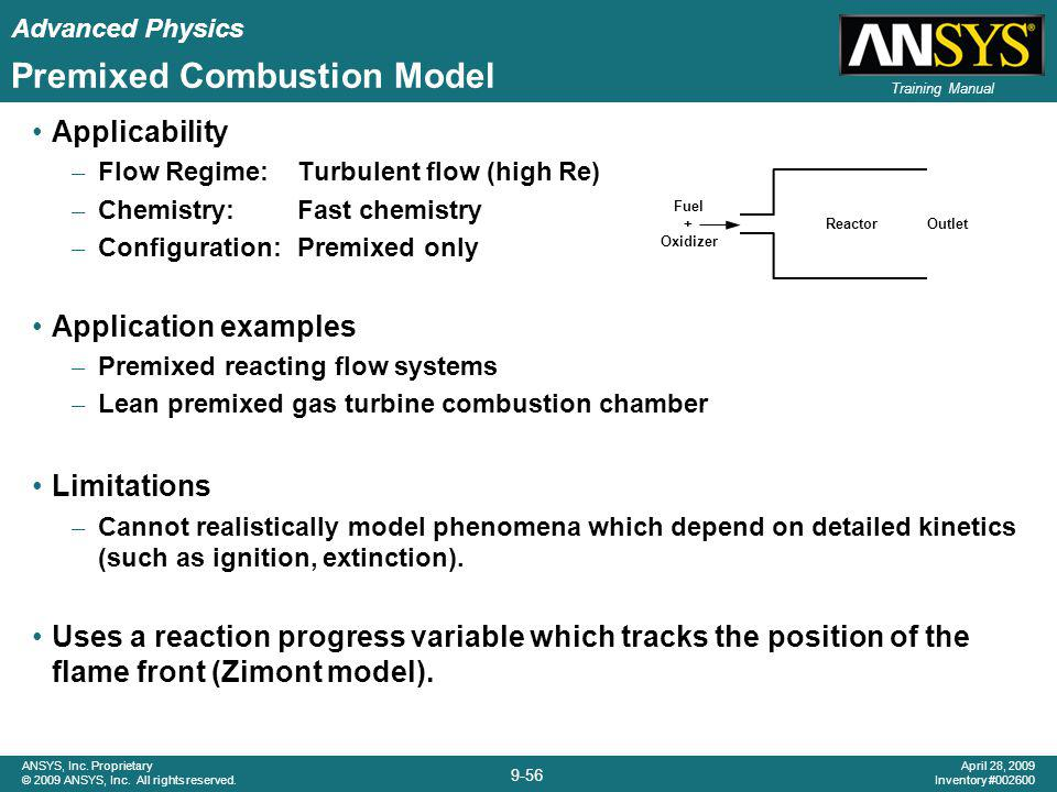 Premixed Combustion Model
