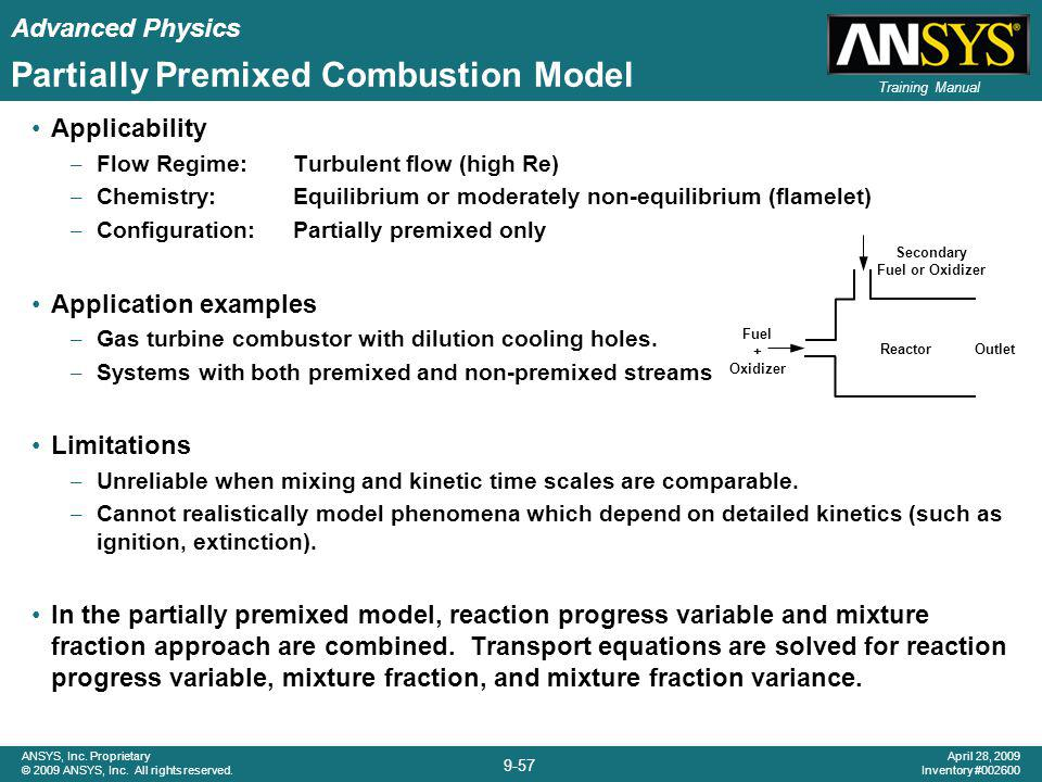 Partially Premixed Combustion Model