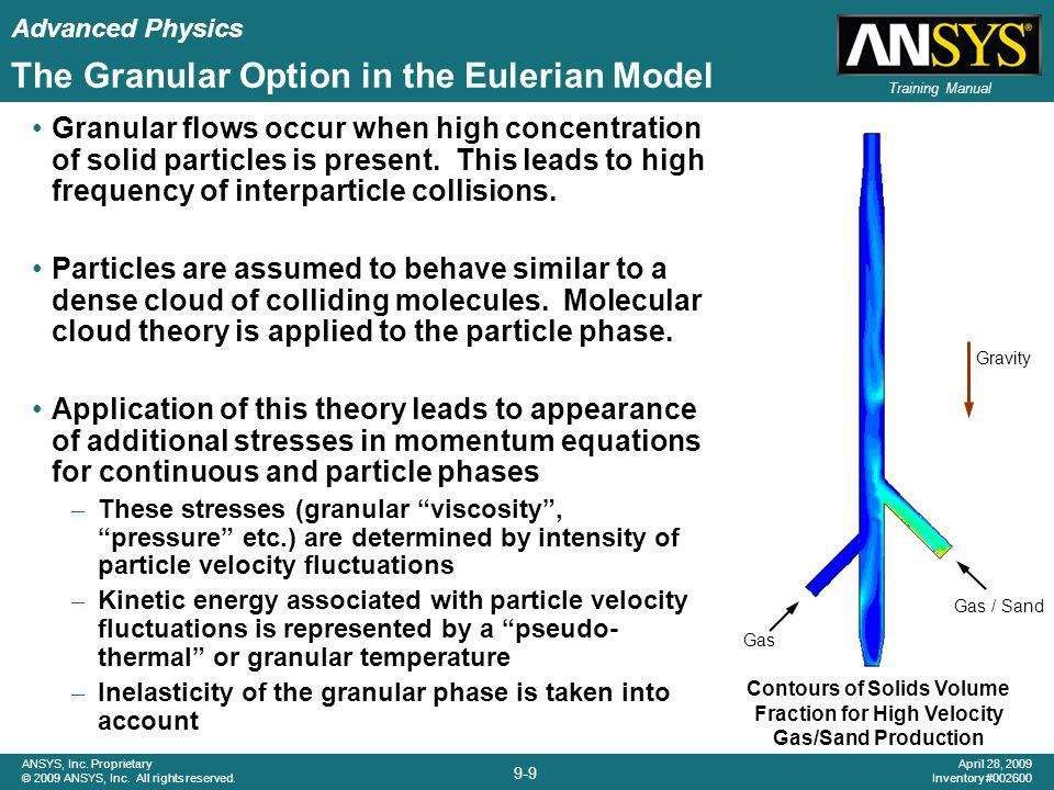 The Granular Option in the Eulerian Model