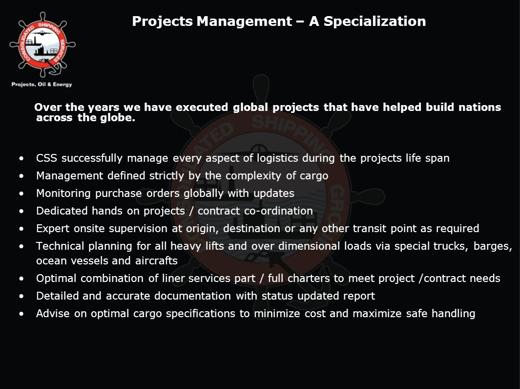 Projects Management – A Specialization