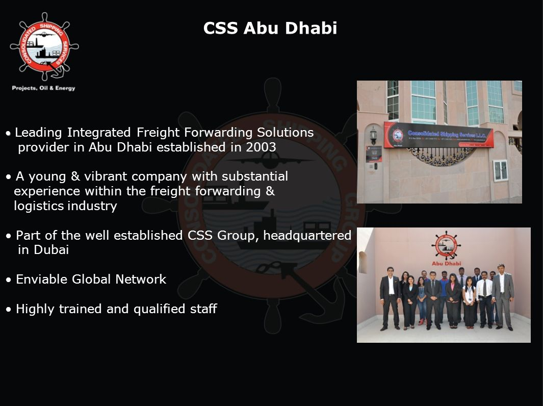 CSS Abu Dhabi provider in Abu Dhabi established in 2003