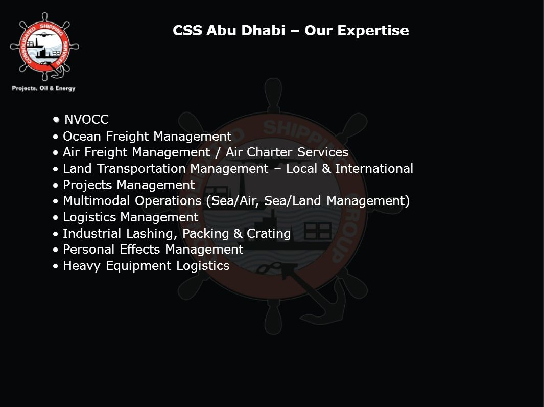 CSS Abu Dhabi – Our Expertise