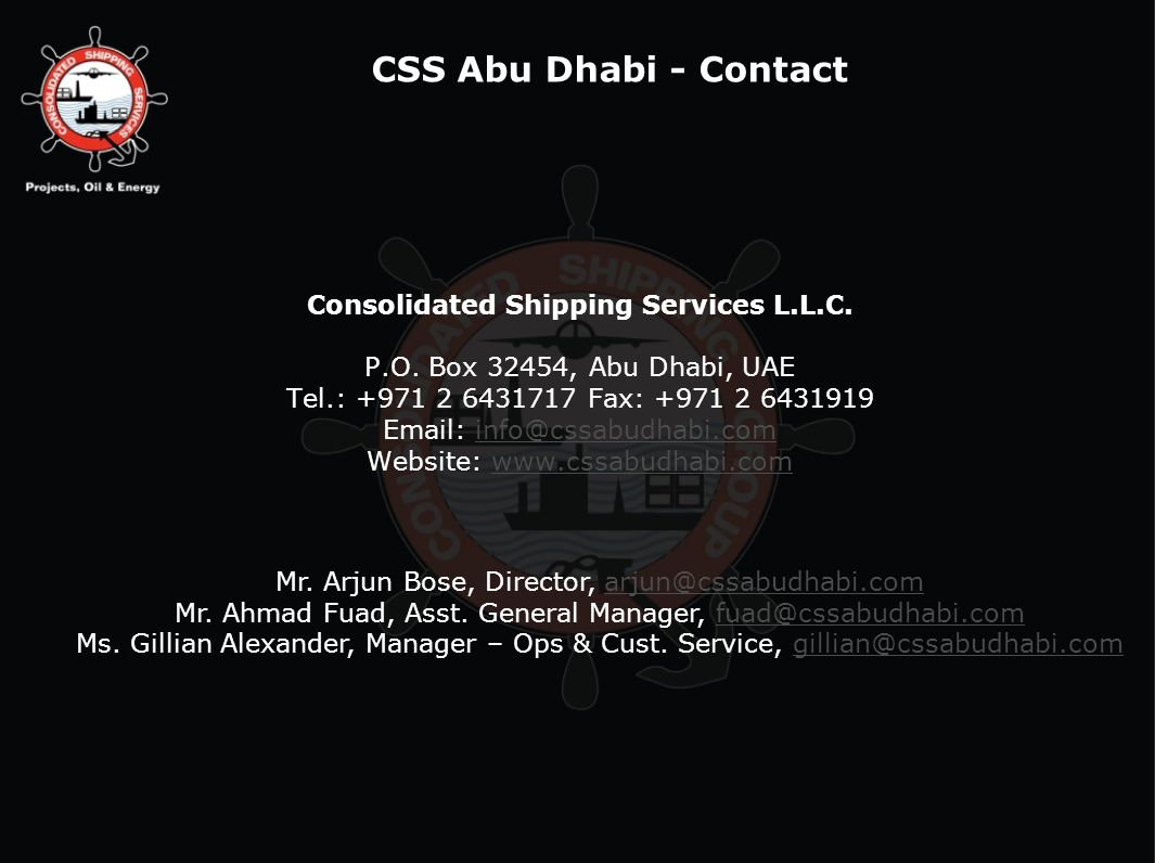 Consolidated Shipping Services L.L.C.