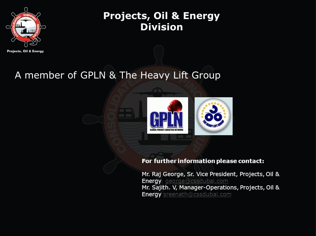 Projects, Oil & Energy Division