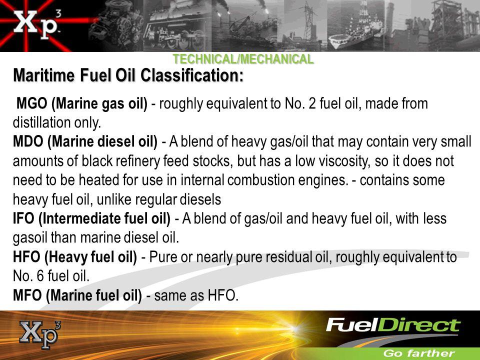 Maritime Fuel Oil Classification: