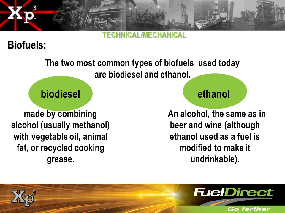 Biofuels: biodiesel ethanol