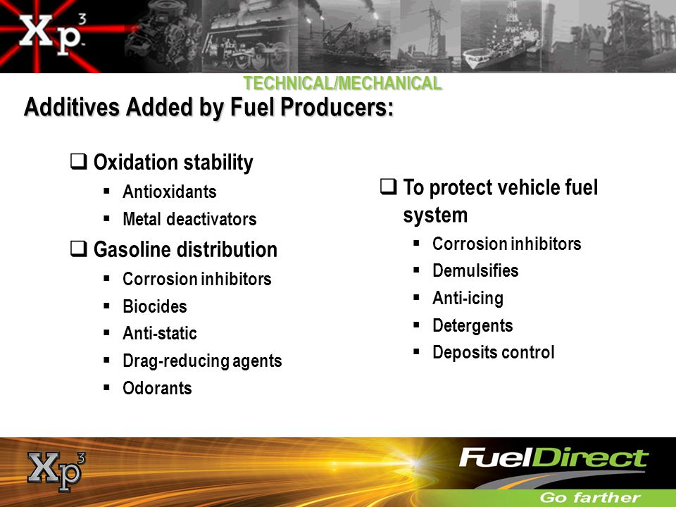 Additives Added by Fuel Producers: