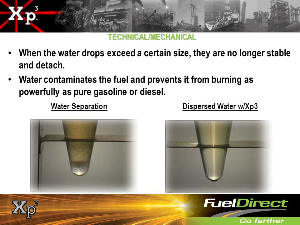 Water Separation Dispersed Water w/Xp3