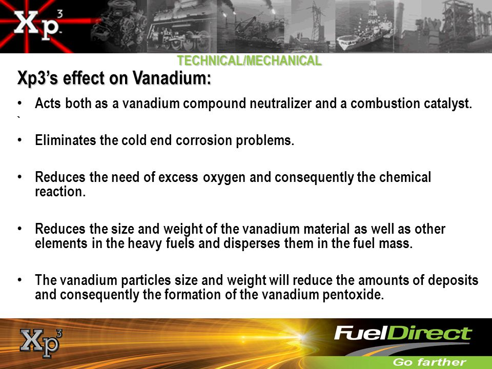 Xp3's effect on Vanadium: