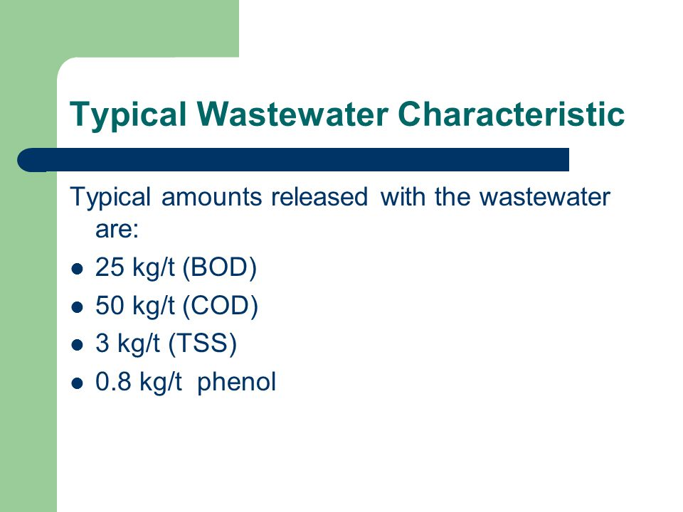 Typical Wastewater Characteristic