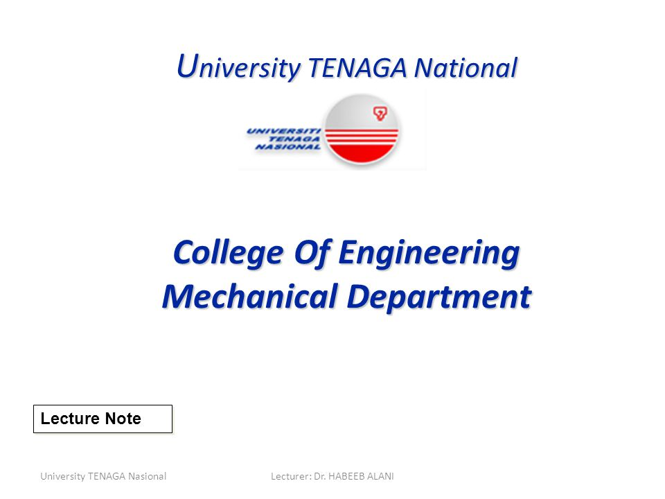 College Of Engineering Mechanical Department