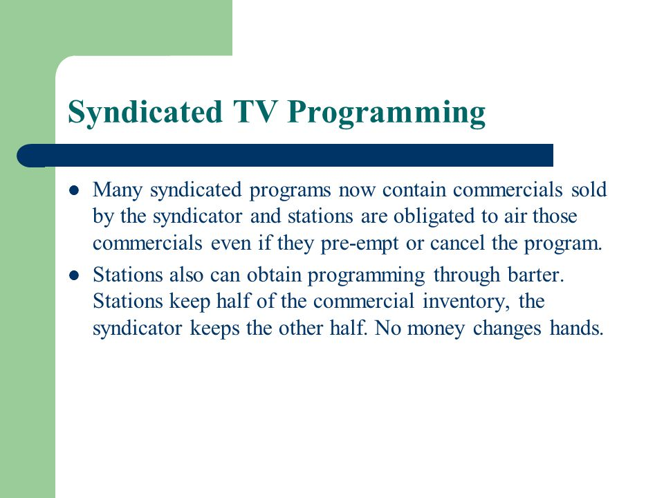 Syndicated TV Programming