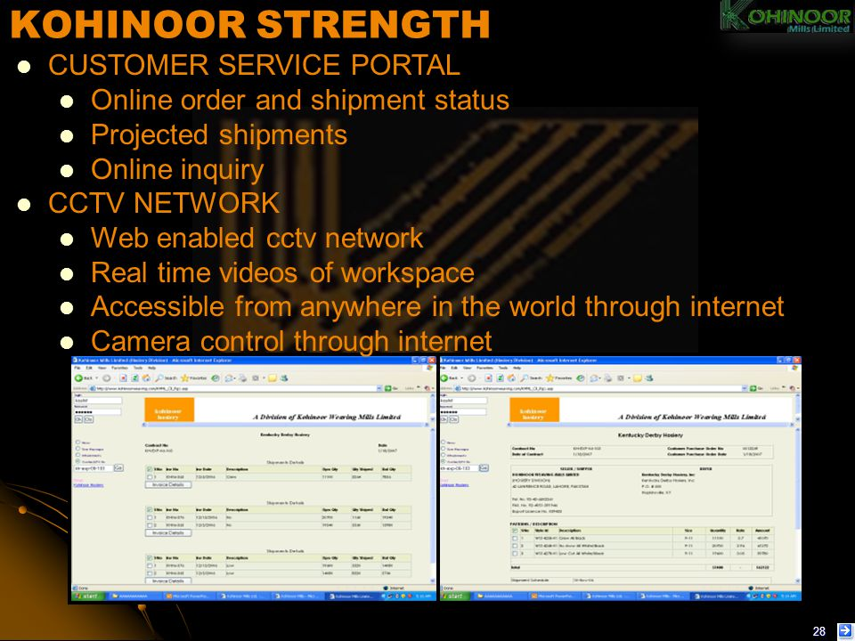 KOHINOOR STRENGTH CUSTOMER SERVICE PORTAL
