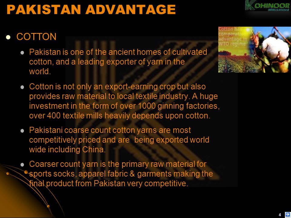 PAKISTAN ADVANTAGE COTTON