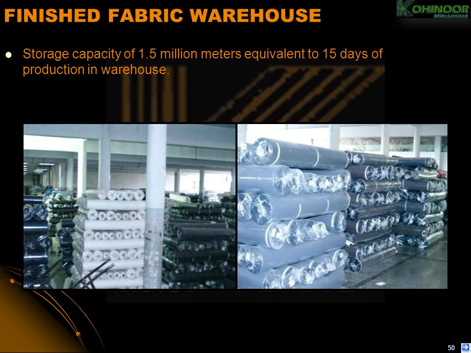 FINISHED FABRIC WAREHOUSE
