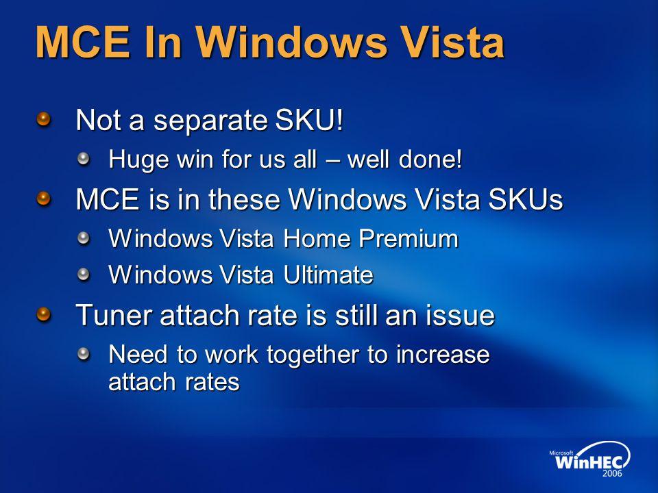 MCE In Windows Vista Not a separate SKU!