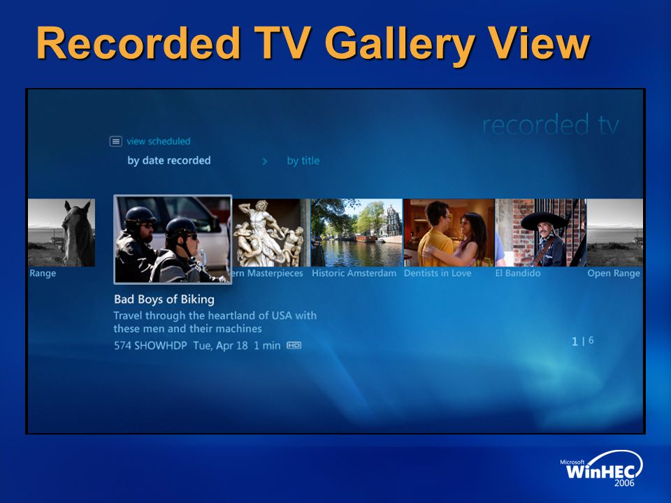 Recorded TV Gallery View