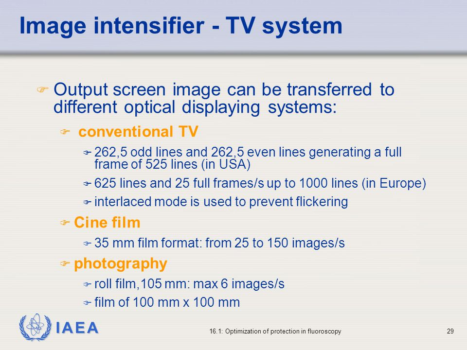 Image intensifier - TV system