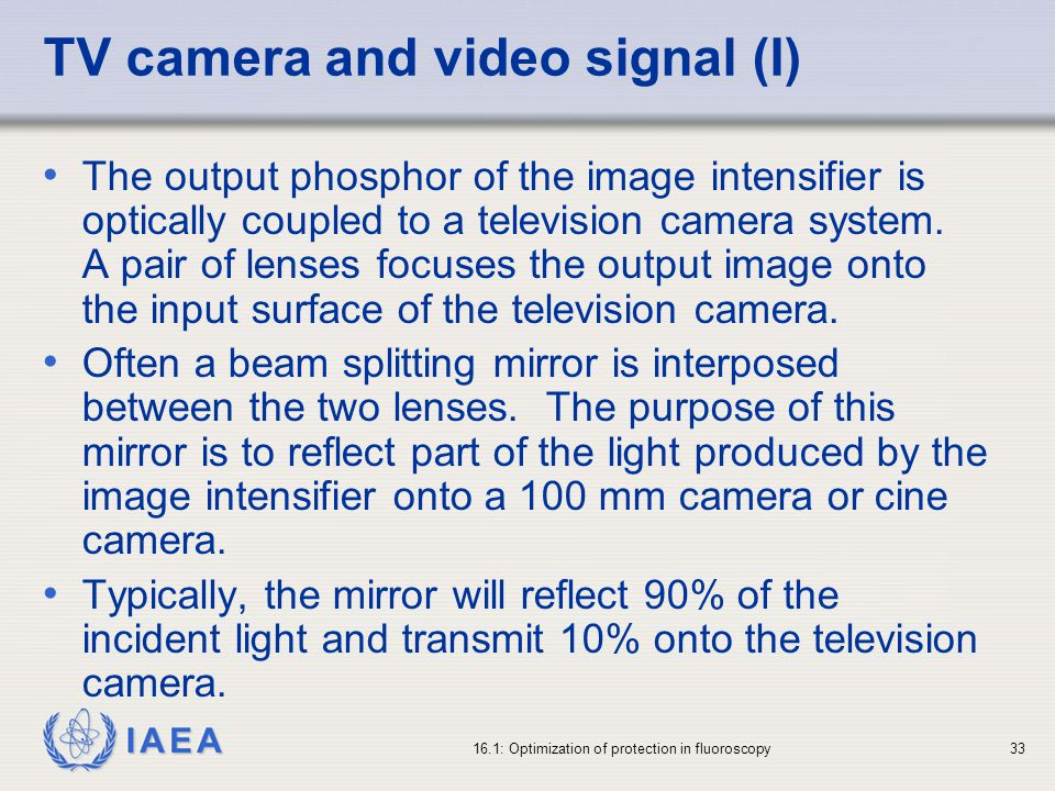 TV camera and video signal (I)