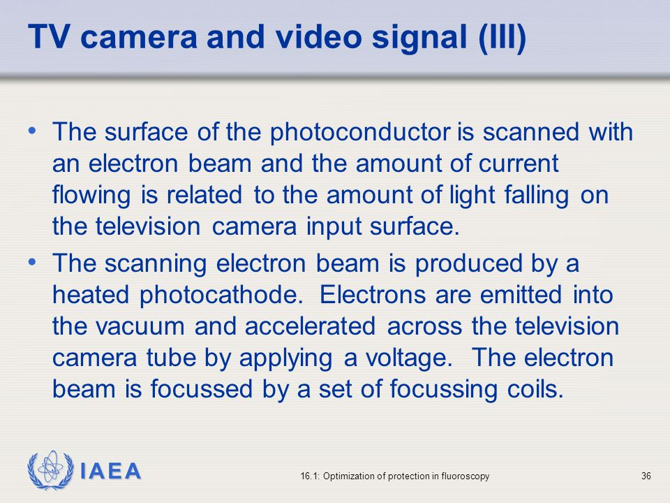 TV camera and video signal (III)