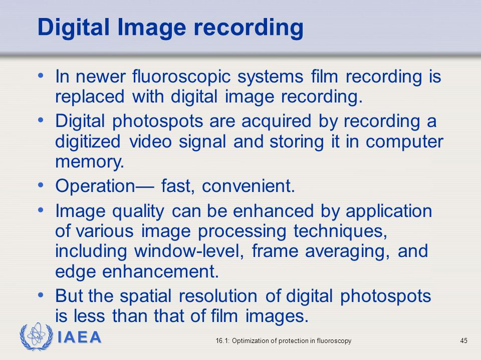 Digital Image recording