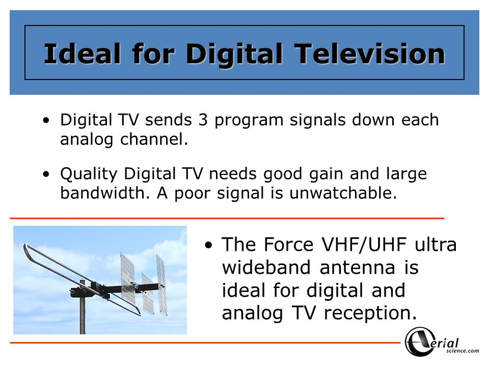 Ideal for Digital Television