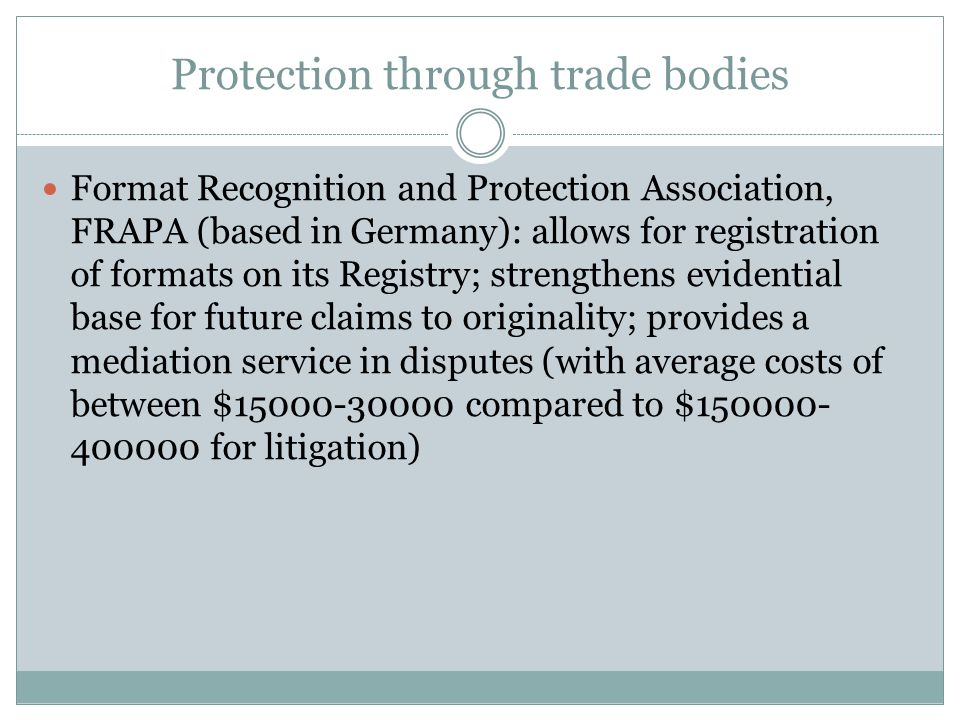 Protection through trade bodies
