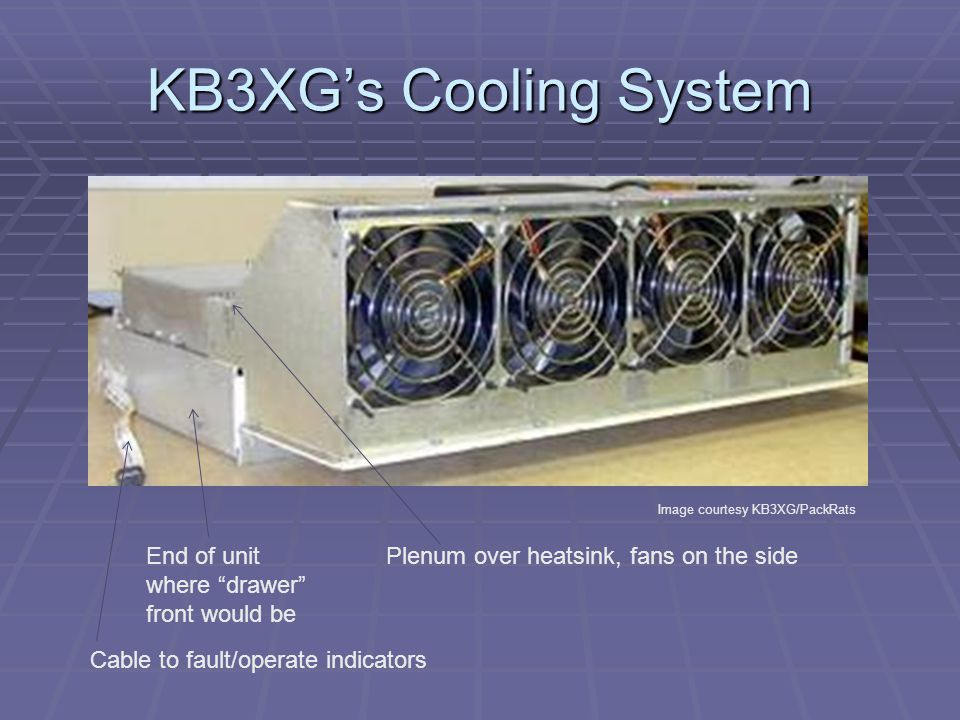 KB3XG's Cooling System End of unit where drawer front would be