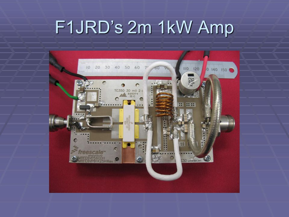F1JRD's 2m 1kW Amp