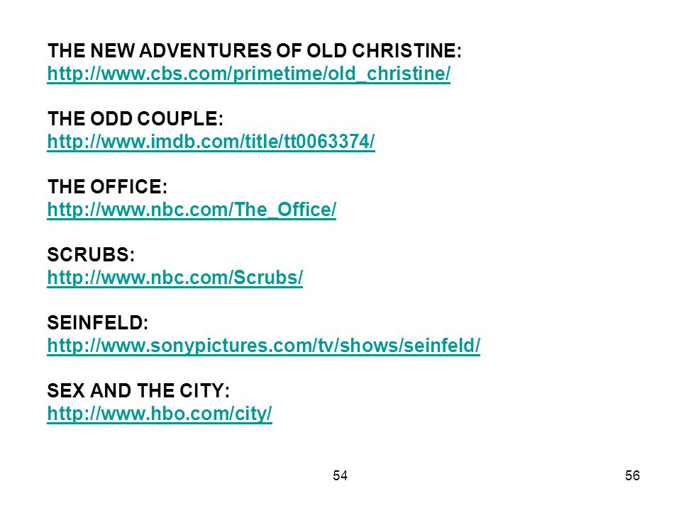 THE NEW ADVENTURES OF OLD CHRISTINE: