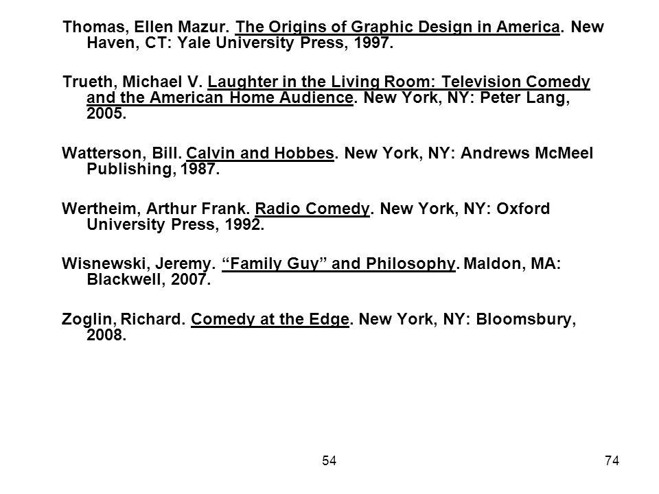 Zoglin, Richard. Comedy at the Edge. New York, NY: Bloomsbury, 2008.