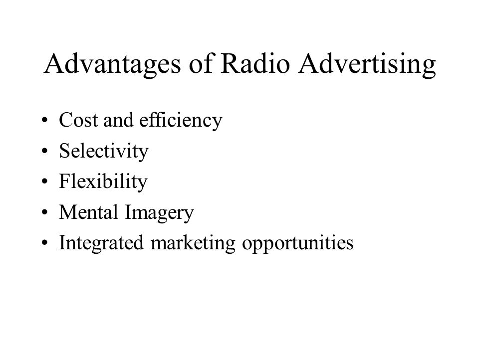 Advantages of Radio Advertising