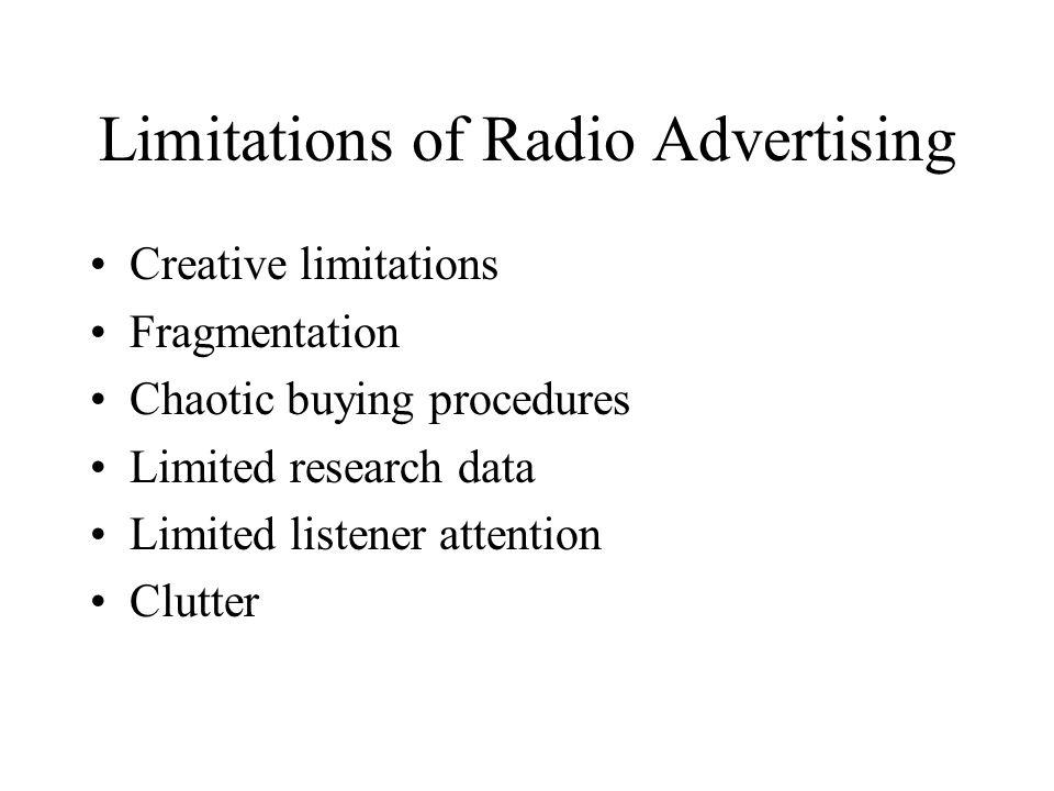 Limitations of Radio Advertising