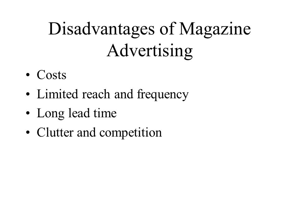 Disadvantages of newspaper advertising