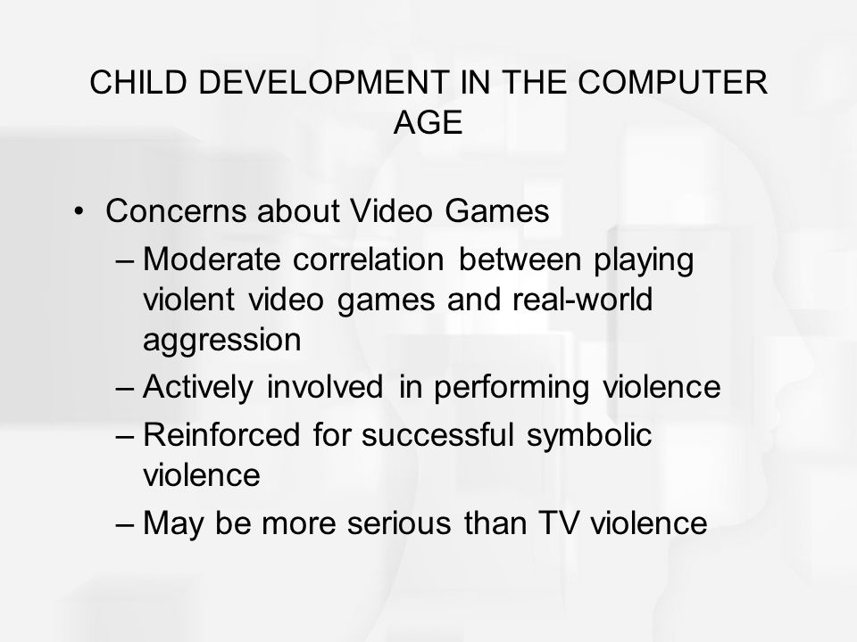 CHILD DEVELOPMENT IN THE COMPUTER AGE