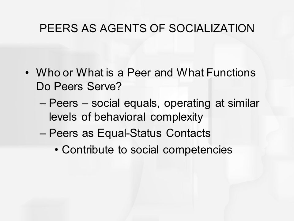 agents of socialization peers essay