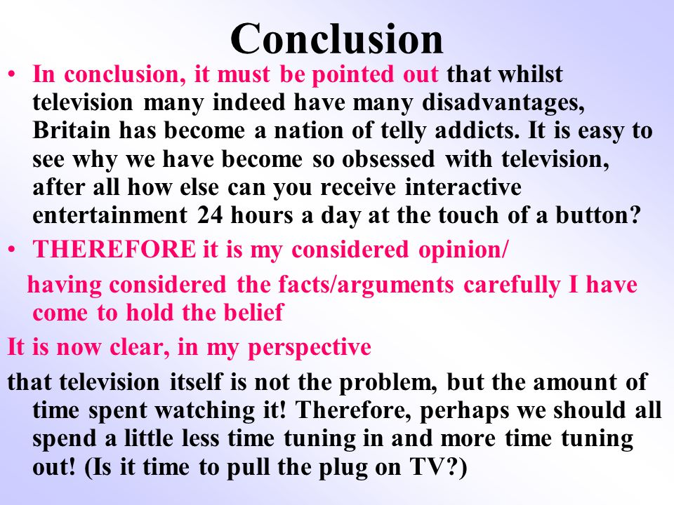 advantages and disadvantages of watching television essay