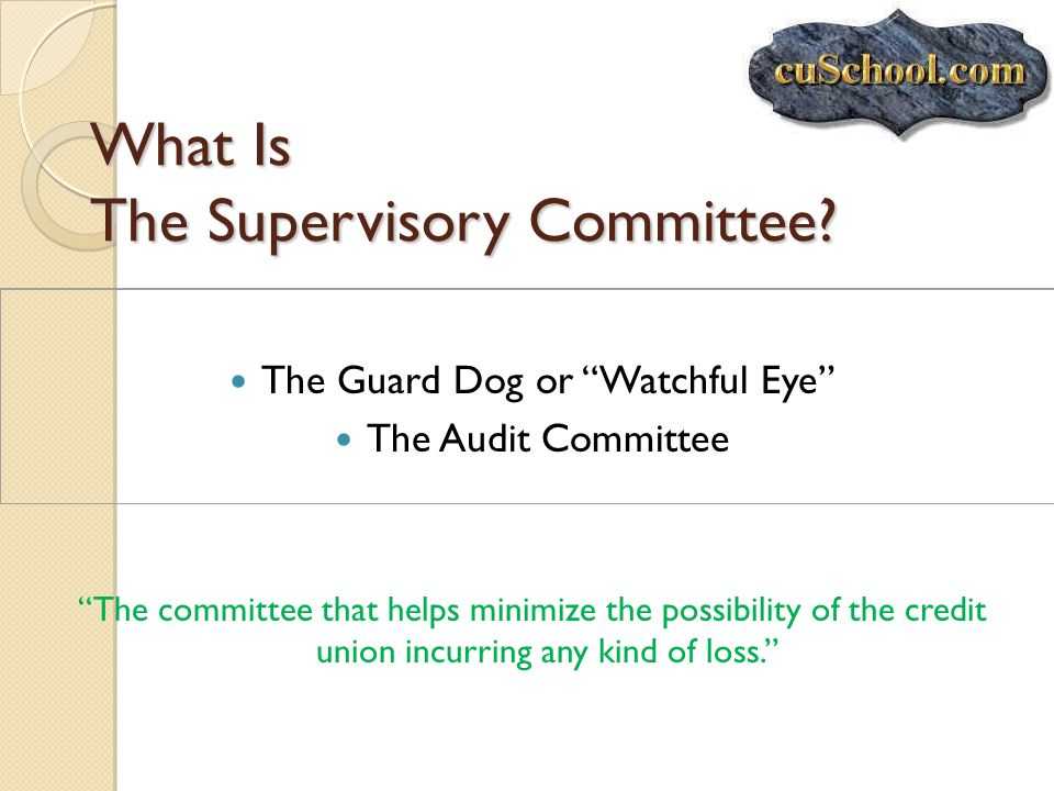 What Is The Supervisory Committee