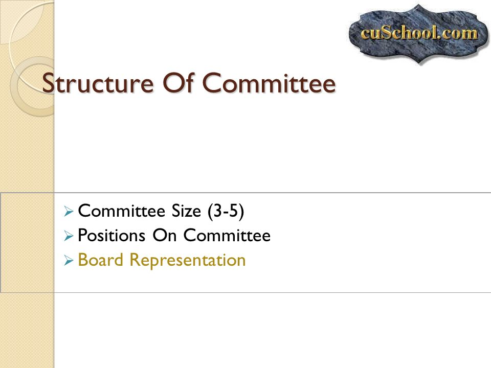 Structure Of Committee