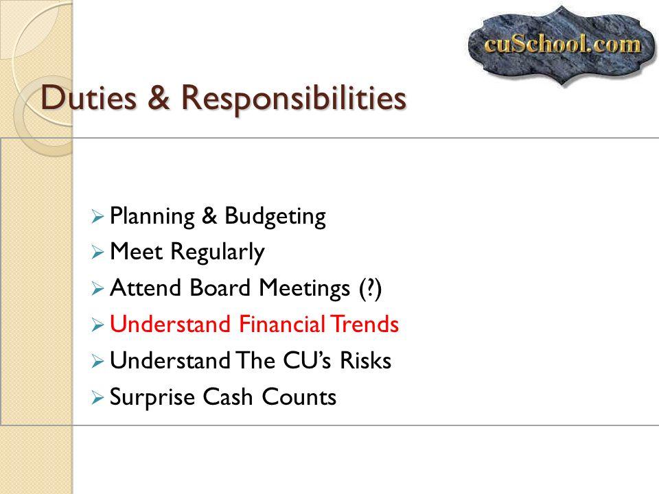 Duties & Responsibilities
