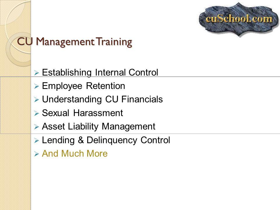 CU Management Training