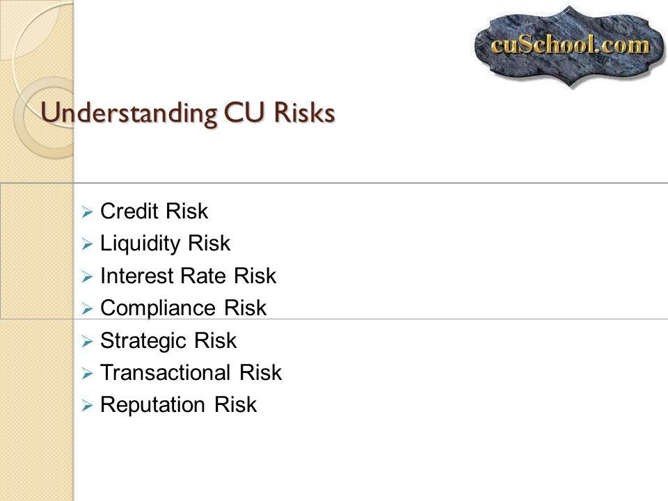 Understanding CU Risks