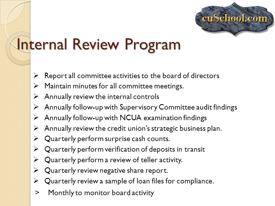Internal Review Program