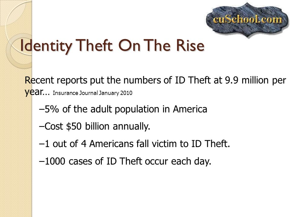 Identity Theft On The Rise