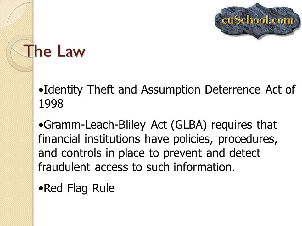 The Law Identity Theft and Assumption Deterrence Act of 1998